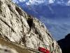 Holidays at long last. Switzerland is yours. Pilatus (2120 m), panoramic summit in Central Switzerland From Alpnachstad reachable by cog-wheel railway (photo) and from Kriens by panoramic gondolas and aerial cablecar.  Endlich Ferien. Ihre Schweiz. Pilatus (2120 m), Aussichtsberg in der Zentralschweiz Erreichbar mit Zahnradbahn ab Alpnachstad (im Bild) und mit Gondelbahn und Luftseilbahn ab Kriens.  Enfin les vacances. A vous la Suisse. Le Pilatus (2120 m), sommet panoramique de Suisse centrale Desservi depuis Alpnachstad par funiculaire (notre vue) et depuis Kriens par télécabine et téléphérique.  Copyright by PILATUS-RAILWAY      By-line: swiss-image.ch